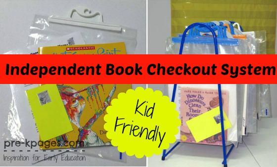 Independent Book Checkout System for #preschool and #kindergarten