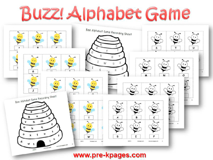Buzz Alphabet Identification Game for #preschool and #kindergarten