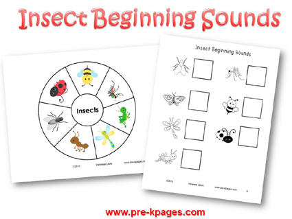 Insect Beginning Sounds Activity for #preschool and #kindergarten