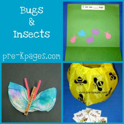 ideas for insect theme in preschool
