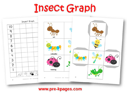 Insect Graphing Activity for #preschool and #kindergarten