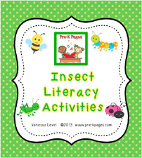 Insect Literacy Activities for #preschool and #kindergarten