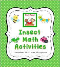Insect Math Activities for #preschool and #kindergarten
