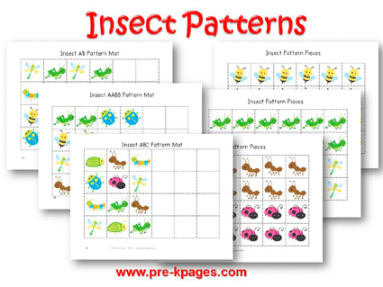 Insect Pattern Activity for #preschool and #kindergarten