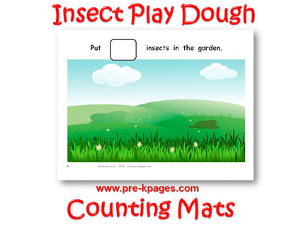 Insect Play Dough Counting Mats for #preschool and #kindergarten