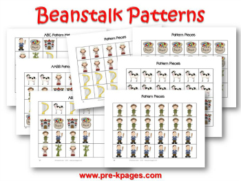 Printable Jack and the Beanstalk Patterns for Preschool and Kindergarten