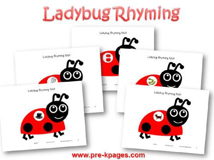 Ladybug Rhyming Game for #preschool and #kindergarten