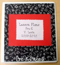 lesson plan book front