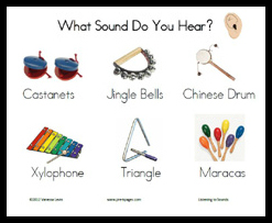 Free printable sounds science activity via www.pre-kpages.com