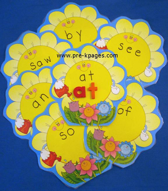 flower word mats