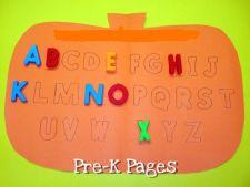 pumpkin letter matching mat