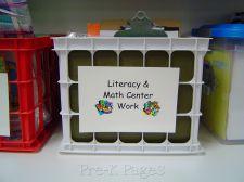 Literacy Center Tub