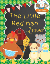 Little Red Hen Literacy Printable Packet via www.pre-kpages.com