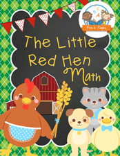 Little Red Hen Printable Math Activities for Preschool and Kindergarten