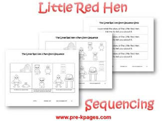Little Red Hen Sequence Pictures via www.pre-kpages.com