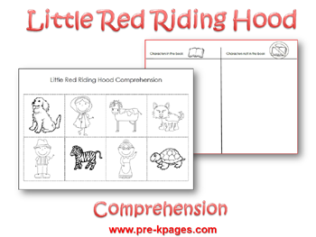 Free Little Red Riding Hood Comprehension Activity via www.pre-kpages.com
