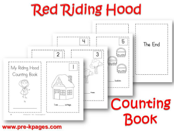 Printable Little Red Riding Hood Counting Book for Preschool and Kindergarten