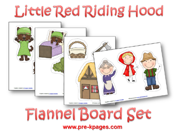 graphic relating to Printable Felt Board Stories named Pre-K Concept: Small Crimson Using Hood