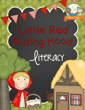 Printable Little Red Riding Hood Literacy Printables for Preschool and Kindergarten