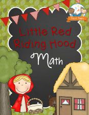 Printable Math Activities for Little Red Riding Hood Theme in Preschool and Kindergarten