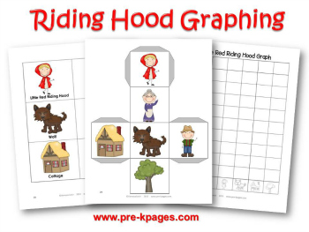 Printable Little Red Riding Hood Graphing Activity for Preschool and Kindergarten