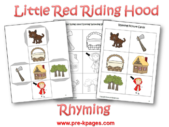 Little Red Riding Hood Rhyming Activity via www.pre-kpages.com
