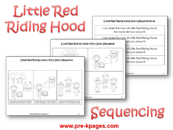 picture about Little Red Riding Hood Story Printable named Pre-K Concept: Very little Purple Using Hood