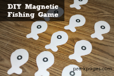 DIY Magnetic Fishing Game Printable Freebie for #Preschool