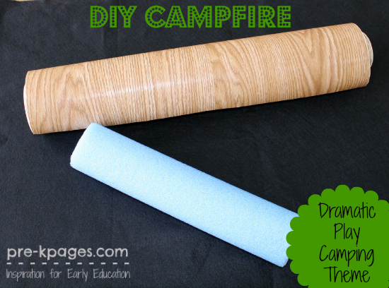 How to Make a Pretend Campfire for a Dramatic Play Camping Theme in Preschool and Kindergarten