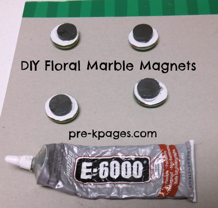 DIY Marble Magnets via www.pre-kpages.com