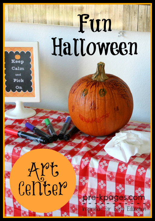 Draw on Pumpkins with Washable Markers in the Art Center