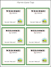 Free Printable Grocery Store Pretend Play Name Tags