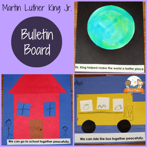 Martin Luther King Bulletin Board Collage for Preschool and Kindergarten