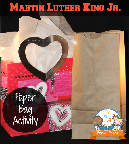 Martin Luther King Jr. Paper Bag Activity for Preschool and Kindergarten