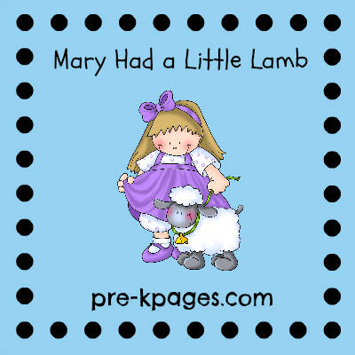 Mary Had a Little Lamb Nursery Rhyme Activities and Printables via www.pre-kpages.com