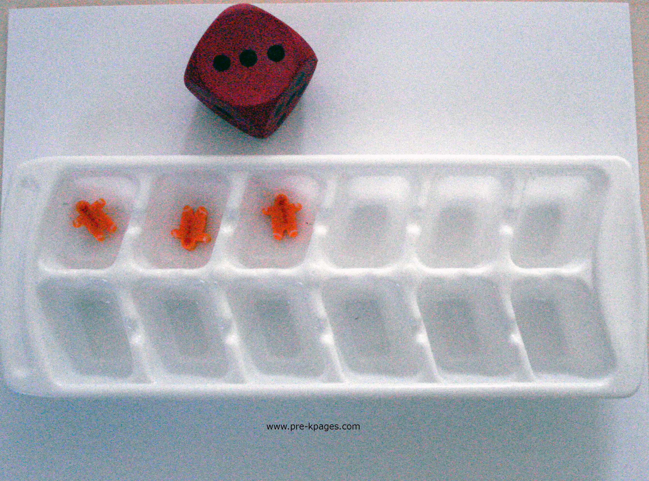 gingerbread ice cube
