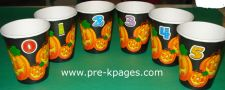 pumpkin seed counting cups