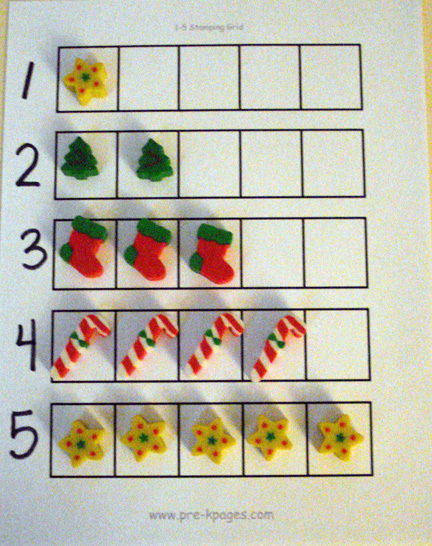 Free Worksheets preschool christmas math activities : Christmas Theme Activities for Preschool