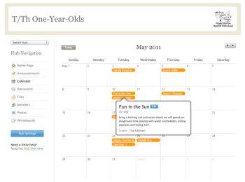 memberhub calendar