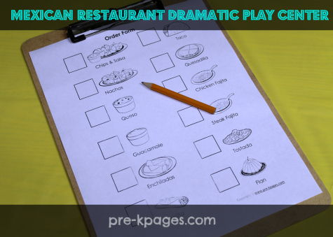Dramatic Play Mexican Restaurant Printables