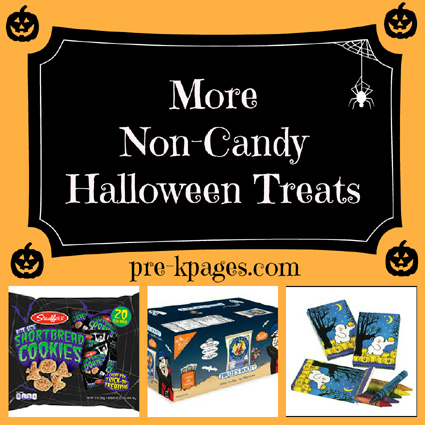 Non-Candy Halloween Treat Alternatives for your classroom via www.pre-kpages.com