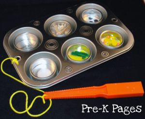 muffin tin magnetic board