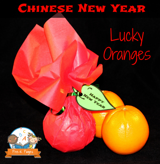 oranges and tangerines celebrating chinese new year with lucky oranges in preschool and kindergarten