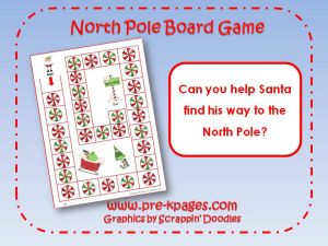 north pole board game