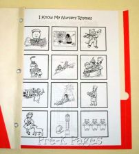 nursery rhyme notebook inside