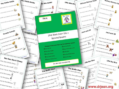 Printable Nursery Rhyme Books and Charts via www.pre-kpages.com
