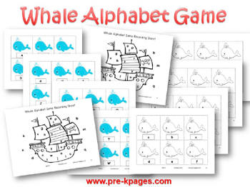Ocean Whale Alphabet Identification Game for #preschool and #kindergarten
