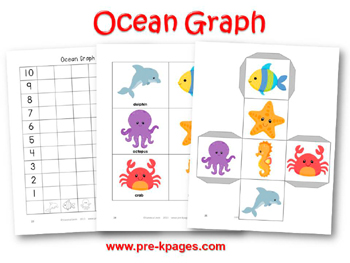 Ocean Graphing Activity for #preschool and #kindergarten