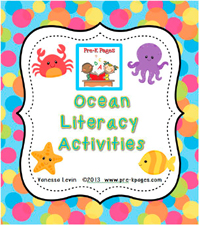 Ocean Literacy Activities for #preschool and #kindergarten