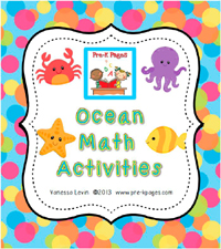 Ocean Math Activities for #preschool and #kindergarten